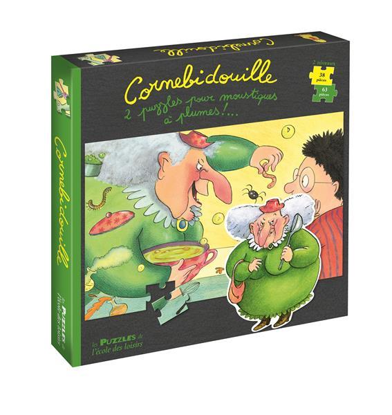 CORNEBIDOUILLE  -  2 PUZZLES POUR MOUSTIQUES A PLUMES ! BERTRAND, PIERRE  Ecole des loisirs
