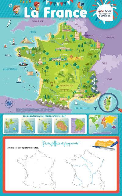POSTER-ARDOISE  -  LA FRANCE (EDITION 2018) COLLECTIF NC