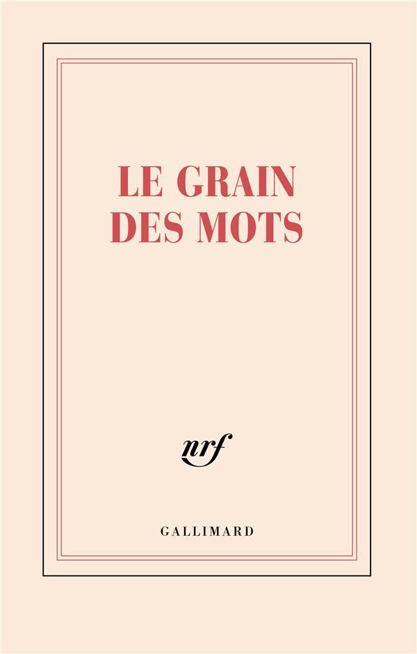CARNET LIGNE LE GRAIN DES MOTS 11,8X18,5CM 192 P