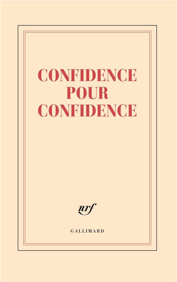 GRAND CARNET LIGNE CONFIDENCE POUR CONFIDE NCE (PAPETERIE)