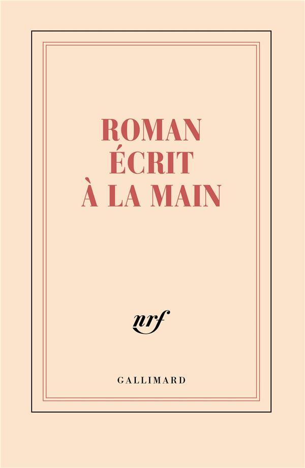 CARNET LIGNE ROMAN ECRIT A LA MAIN