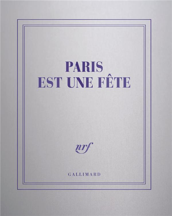 CARNET CARRE ARGENT LIGNE PARIS EST UNE FETE COLLECTIF NC