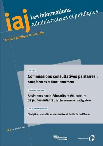 IAJ N.10-2017-COMMISSIONS CONSULTATIVES PARITAIRES