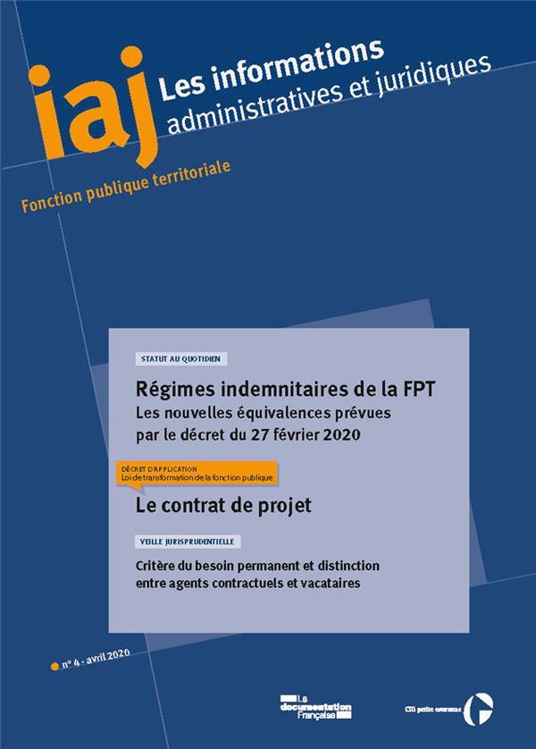 IAJ N.4 AVRIL 2020 REGIMES INDEMNITAIRES DE LA FPT