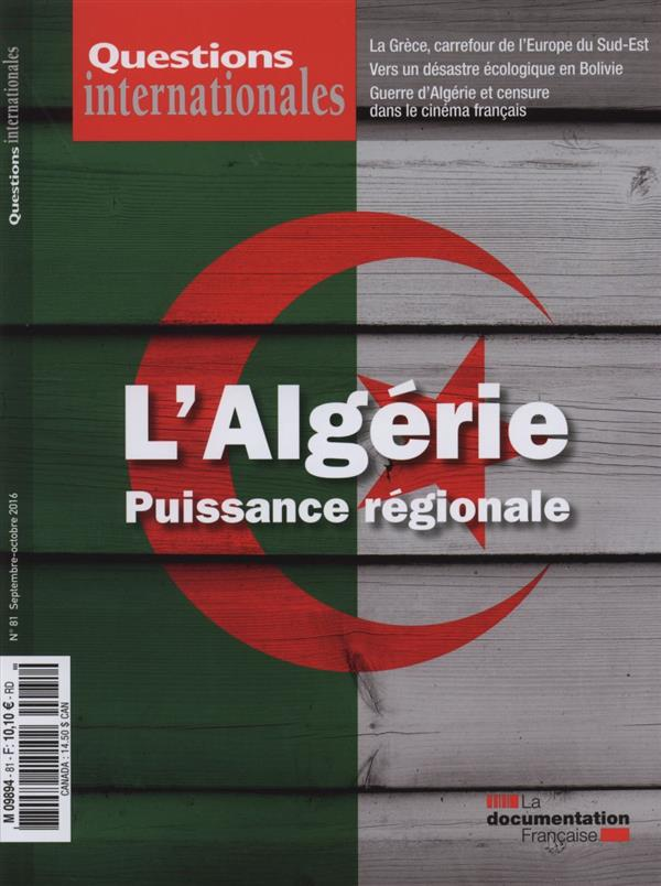 REVUE QUESTIONS INTERNATIONALES N.81  -  L'ALGERIE