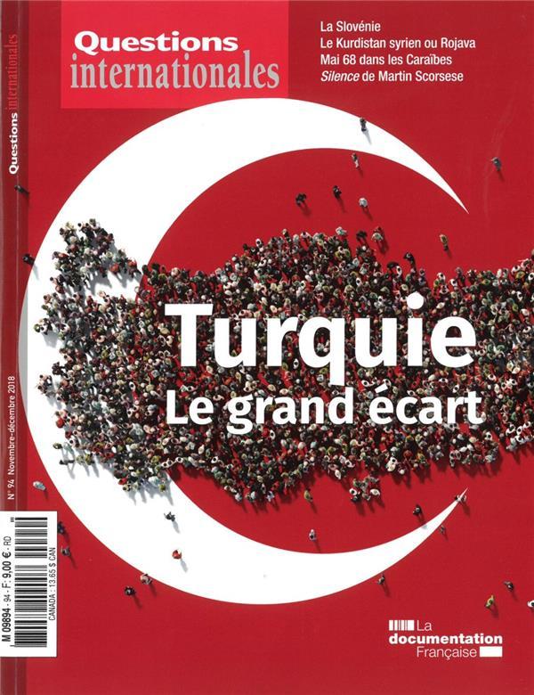REVUE QUESTIONS INTERNATIONALES  -  LA TURQUIE  -  LE GRAND ECART