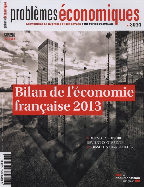 BILAN DE L'ECONOMIE FRANCAISE 2013   PE N 3074