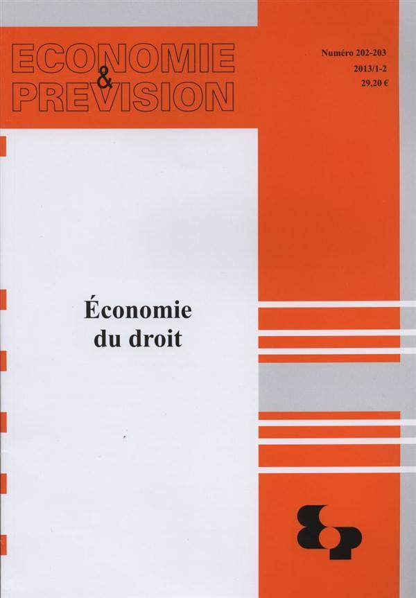 ECONOMIE ET PREVISION N.202  -  ECONOMIE DU DROIT