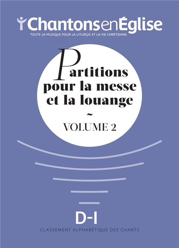 RECUEIL PARTITIONS  -  CHANTONS EN EGLISE 1000 CHANTS VOL 2