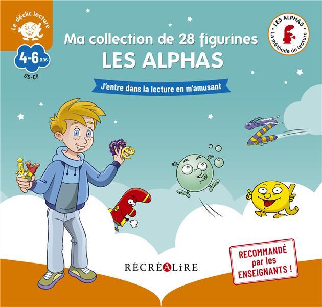 APPRENDRE A LIRE AVEC LES ALPHAS  -  MA COLLECTION DE 28 FIGURINES LES ALPHAS HUGUENIN  NC
