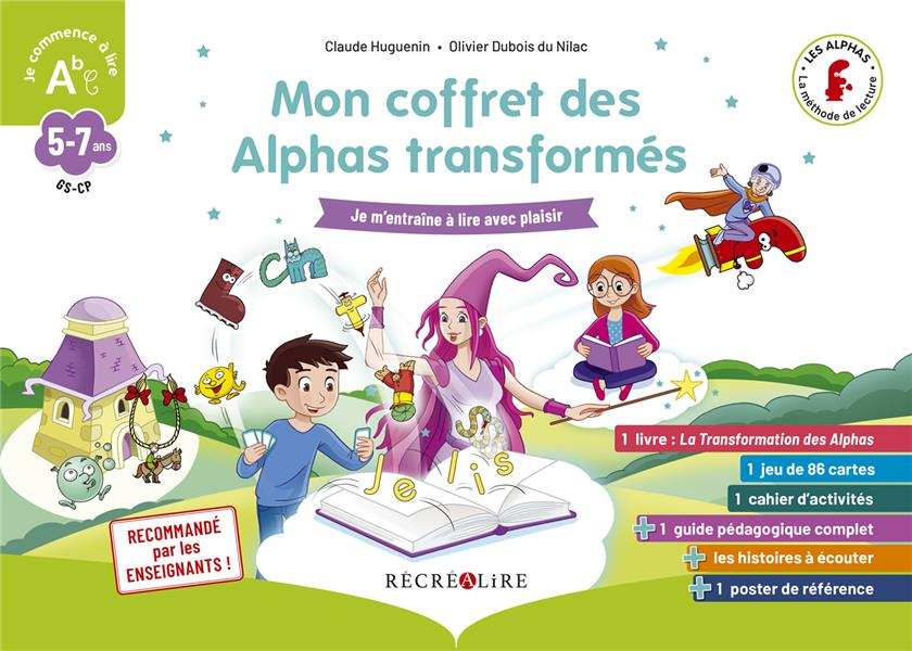 MON COFFRET DES ALPHAS  -  JE COMMENCE A LIRE HUGUENIN NC