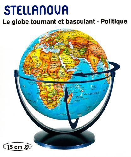 GLOBE 15 CM POLITIQUE TOURNANT et BASCULANT XXX NC