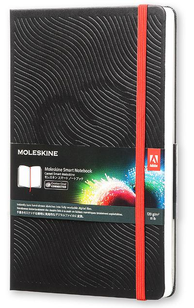CARNET SMART  -  CREATIVE CLOUD CONNECTED  -  GRAND FORMAT  -  COUVERTURE RIGIDE NOIRE.
