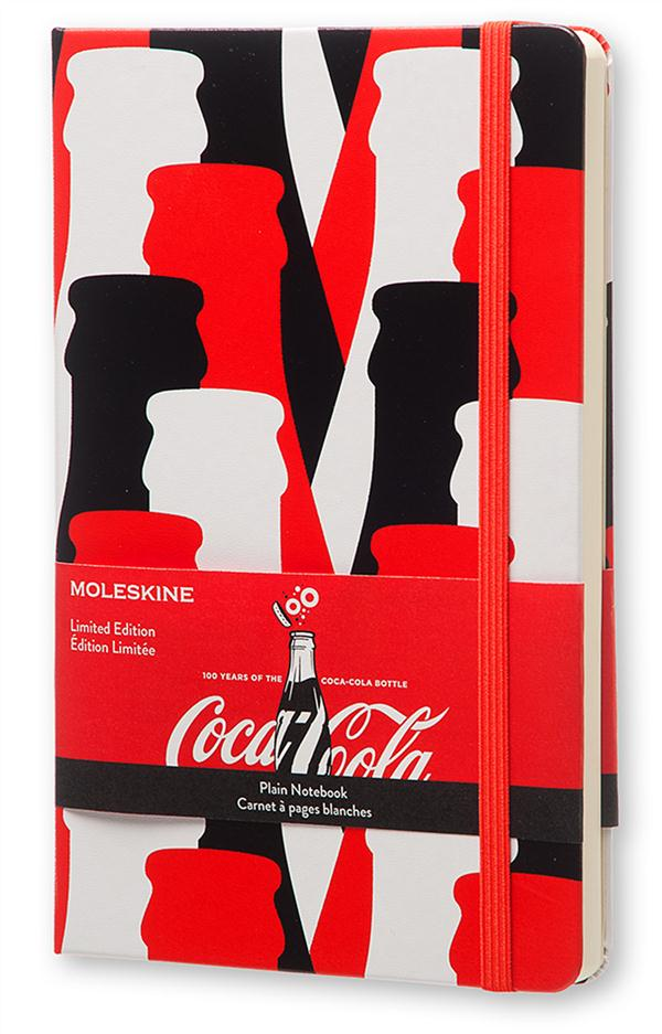CARNET EDITION LIMITEE COCA-COLA  -  PAGES BLANCHES  -  GRAND FORMAT  -  COUVERTURE RIGIDE
