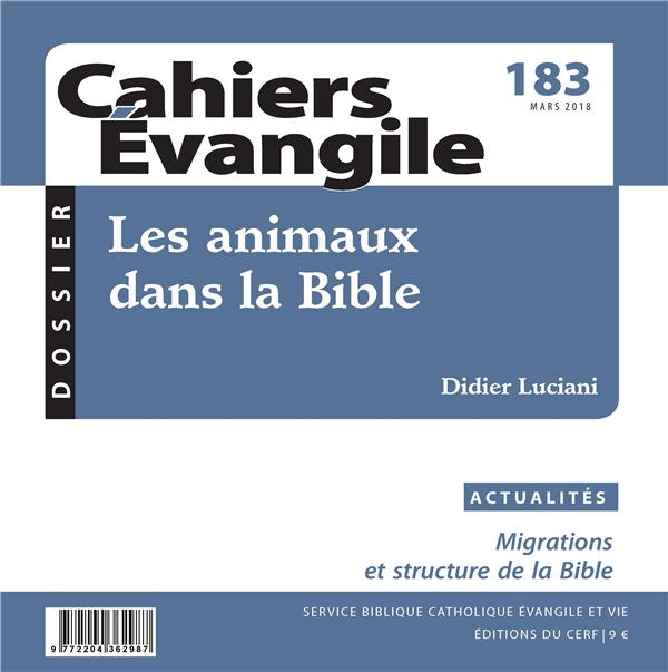 CE-183 LES ANIMAUX DANS LA BIBLE