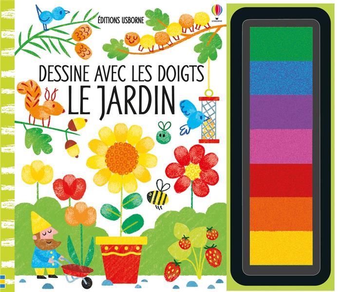 DESSINE AVEC LES DOIGTS  -  LE JARDIN WATT/WHATMORE Usborne