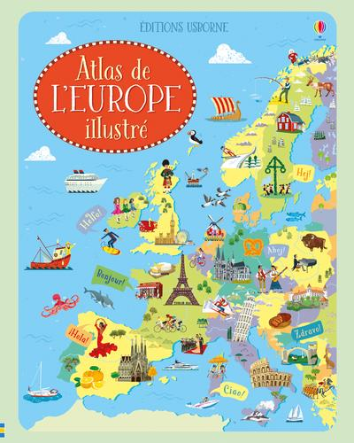 ATLAS DE L'EUROPE ILLUSTRE  Lgdj