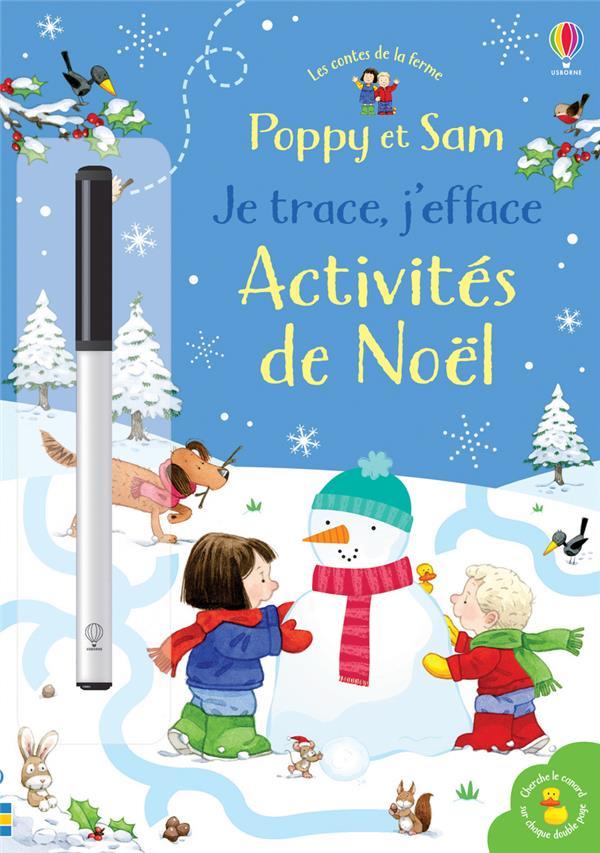 POPPY ET SAM - JE TRACE, J'EFFACE - ACTIVITES DE NOEL - LES CONTES DE LA FERME TAPLIN/TAYLOR-KIELTY Lgdj