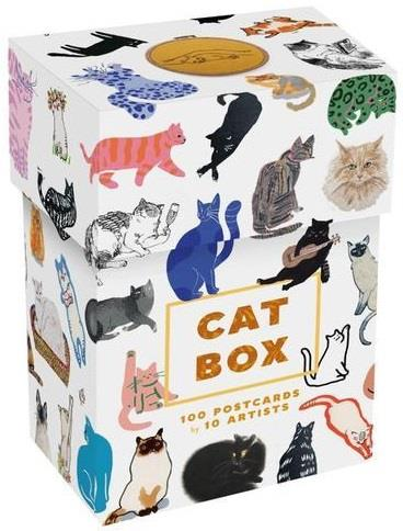 CAT BOX 100 POSTCARDS BY 10 ARTISTS ANGLAIS