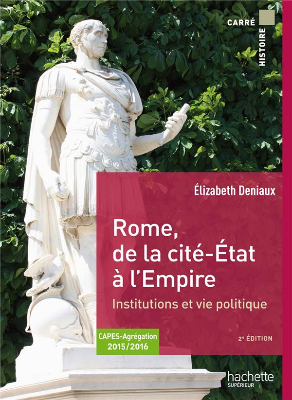 ROME, DE LA CITE-ETAT A L'EMPIRE  -  INSTITUTIONS ET VIE POLITIQUE  -  CAPES, AGREGATION 20152016