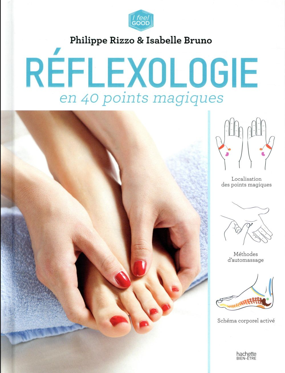 REFLEXOLOGIE ANTI-STRESS EN 40 POINTS MAGIQUES RIZZO-P+BRUNO-I HACHETTE