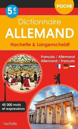 DICTIONNAIRE HACHETTE et LANGENSCHEIDT POCHE  -  FRANCAIS-ALLEMAND  ALLEMAND-FRANCAIS XXX HACHETTE