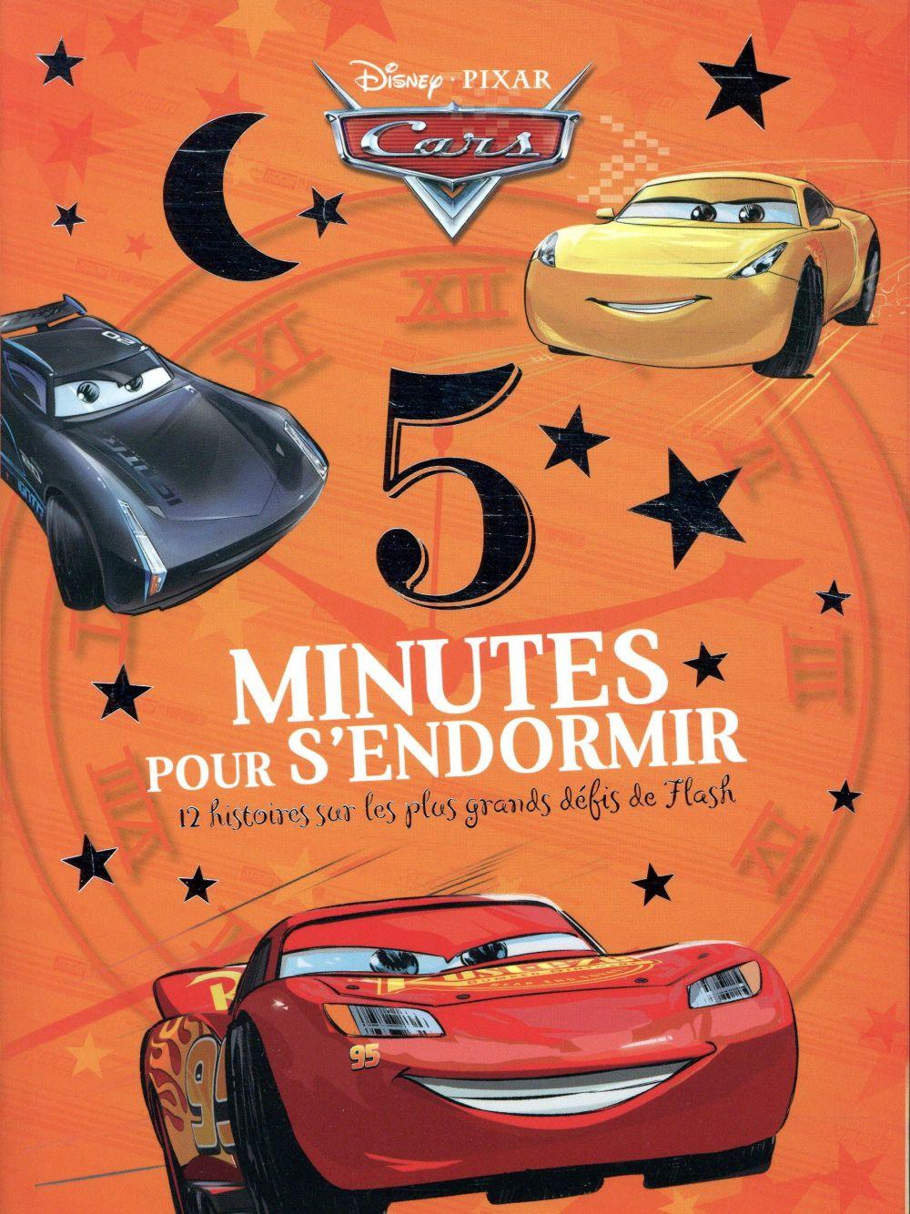 CARS - 5 MINUTES POUR S'ENDORMIR - 12 HISTOIRES SUR LES GRANDS DEFIS DE FLASH - DISNEY PIXAR - LES G  Lgdj