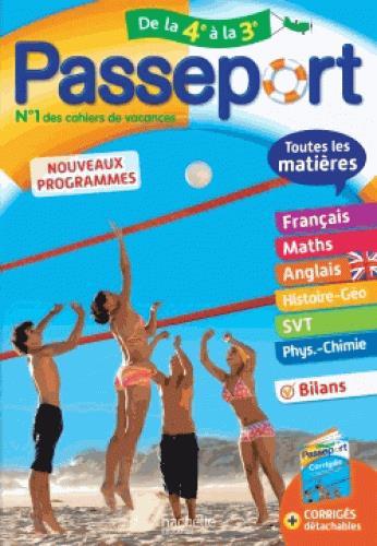 PASSEPORT TOUTES LES MATIERES - DE LA 4E VERS LA 3E