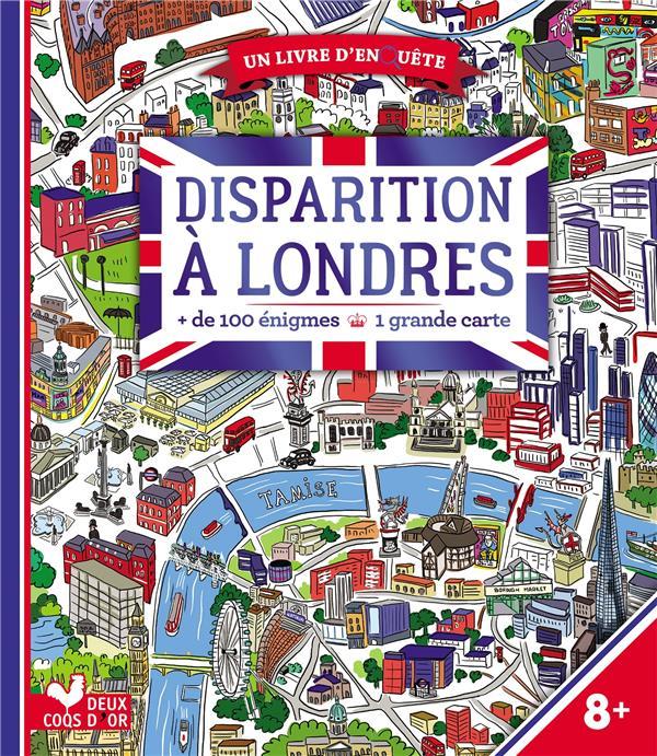 DISPARITION A LONDRES  -  LIVRE AVEC CARTE  HACHETTE