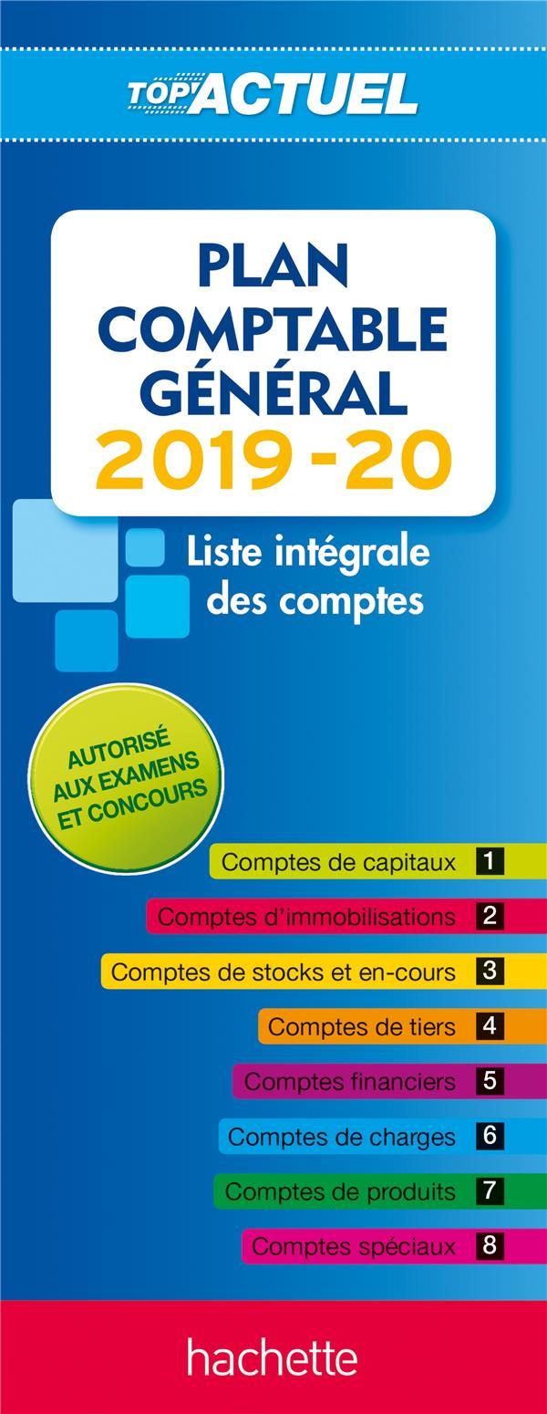 TOP'ACTUEL PLAN COMPTABLE 2019-2020 SOPEL DANIEL HACHETTE