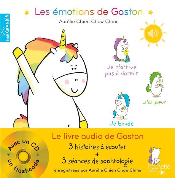 LES EMOTIONS DE GASTON  -  LE LIVRE AUDIO DE GASTON CHIEN CHOW CHINE A. HACHETTE