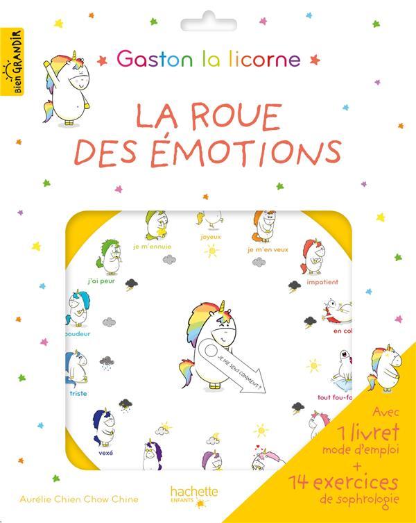 GASTON LA LICORNE  -  LES EMOTIONS DE GASTON  -  LA ROUE DES EMOTIONS CHIEN CHOW CHINE A. HACHETTE