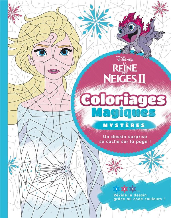 LA REINE DES NEIGES 2  -  COLORIAGES MAGIQUES  -  TROMPE-L'OEIL  HACHETTE