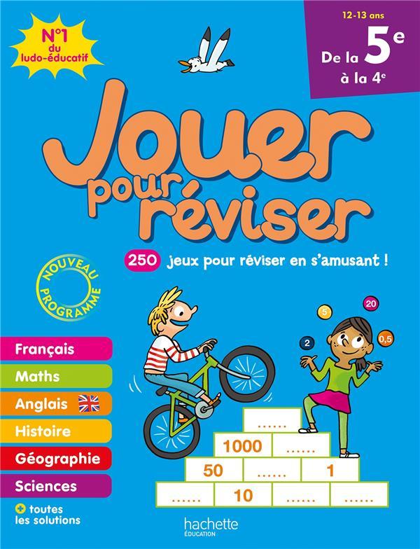 JOUER POUR REVISER  -  DE LA 5E A LA 4E LECREUX/BERGER/MEHEE HACHETTE