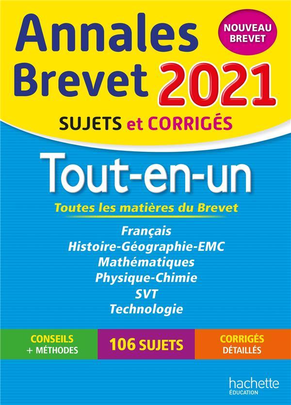 ANNALES BREVET  -  TOUT-EN-UN  -  SUJETS ET CORRIGES (EDITION 2021) REAUTE/LASKAR/SAISSE HACHETTE