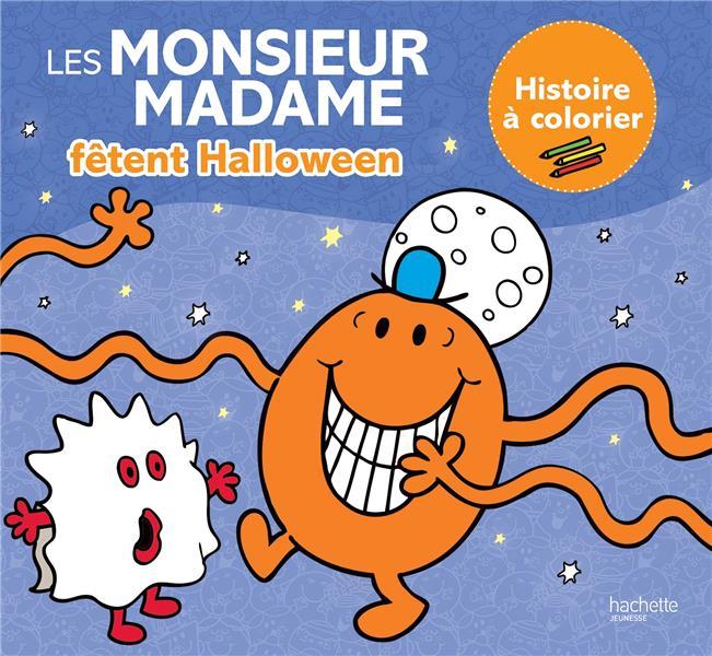 LES MONSIEUR MADAME  -  FETENT HALLOWEEN  -  HISTOIRE A COLORIER