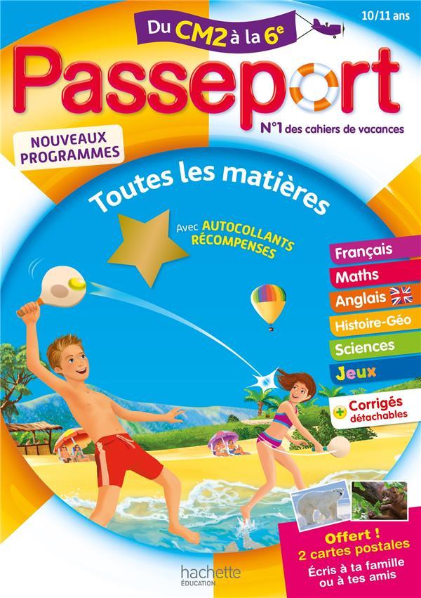 PASSEPORT - DU CM2 A LA 6E (10 MASCLET/BONNERAT HACHETTE