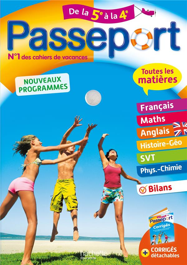 PASSEPORT  -  TOUTES LES MATIERES  -  DE LA 5E A LA 4E LISLE/ROUSSEAU NC