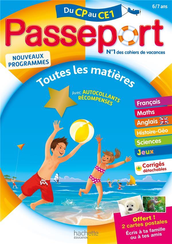 PASSEPORT CAHIER DE VACANCES  - TOUTES LES MATIERES DU CP AU CE1 - 67 ANS BOURGOUINT/PRESSE NC