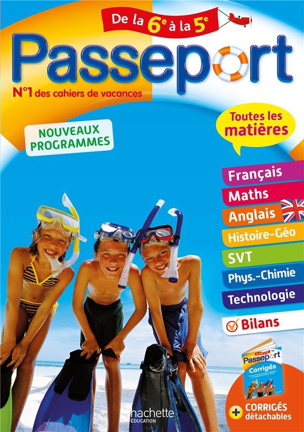 PASSEPORT  -  TOUTES LES MATIERES  -  DE LA 6E A LA 5E LISLE/ROUSSEAU NC