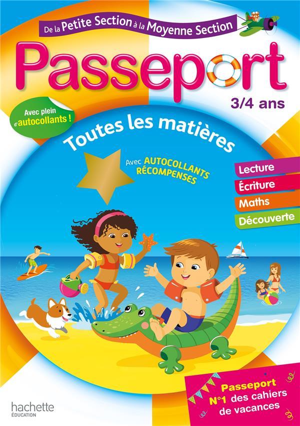 PASSEPORT  -  DE LA PETITE SECTION A LA MOYENNE SECTION  -  TOUTES LES MATIERES (EDITION 2020) POURE/EXBRAYAT HACHETTE