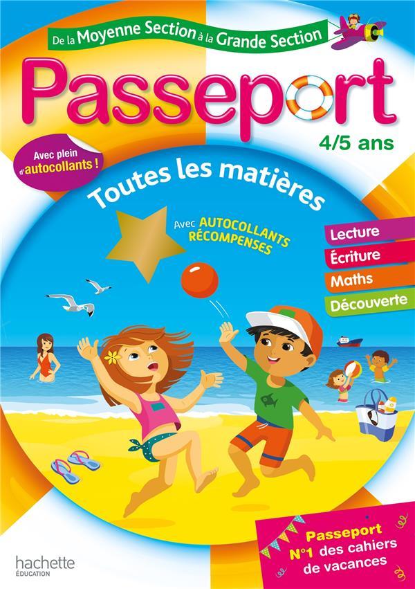 PASSEPORT  -  DE LA MOYENNE SECTION A LA GRANDE SECTION  -  TOUTES LES MATIERES POURE/EXBRAYAT HACHETTE