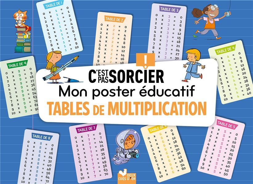 MON POSTER EDUCATIF C'EST PAS SORCIER -  TABLES DE MULTIPLICATION -