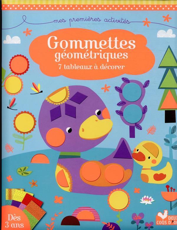 GOMMETTES GEOMETRIQUES  -  7 TABLEAUX A DECORER