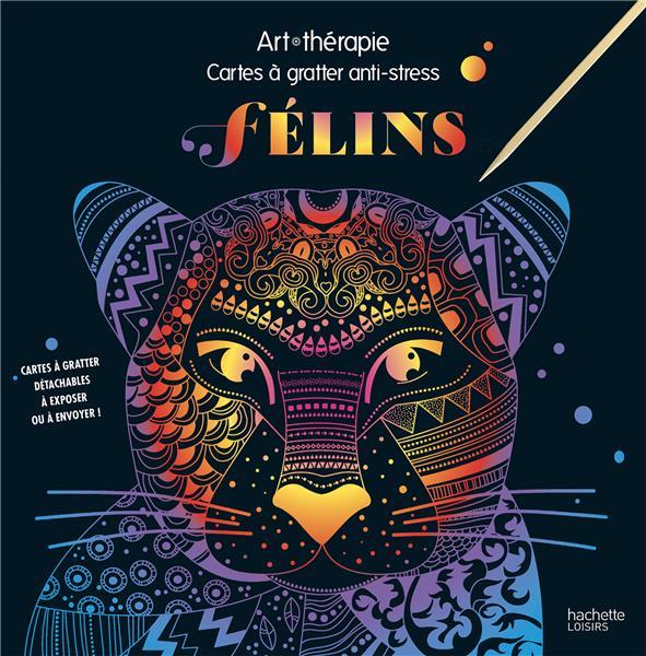 ART-THERAPIE  -  FELINS  -  CARTES A GRATTER ANTI-STRESS