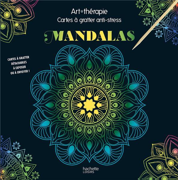 ART-THERAPIE  -  MANDALAS  -  CARTES A GRATTER ANTI-STRESS