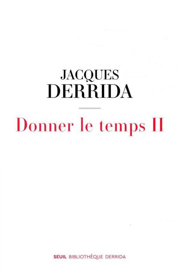 DONNER LE TEMPS II