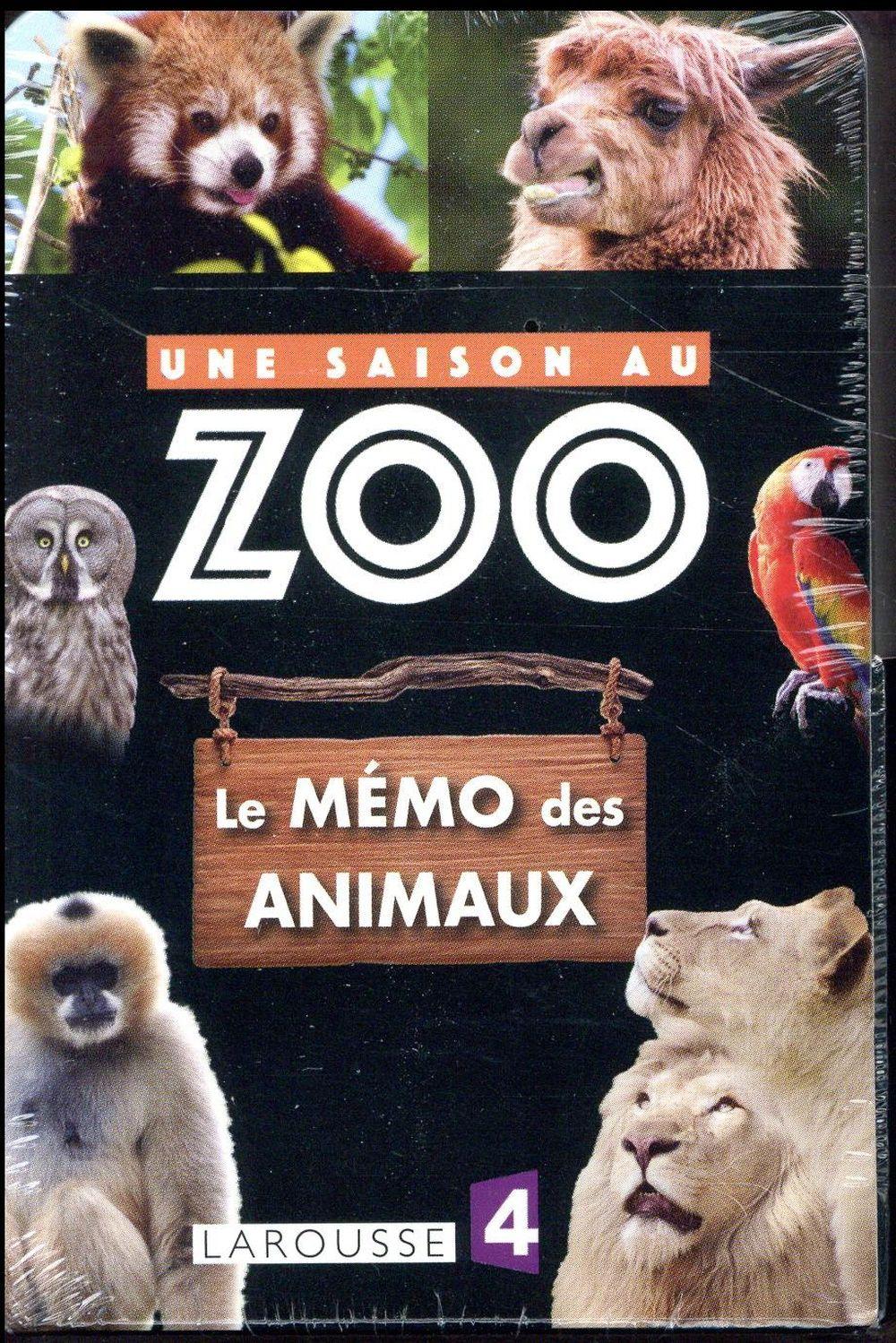 UNE SAISON AU ZOO  -  LE MEMO DES ANIMAUX XXX Larousse