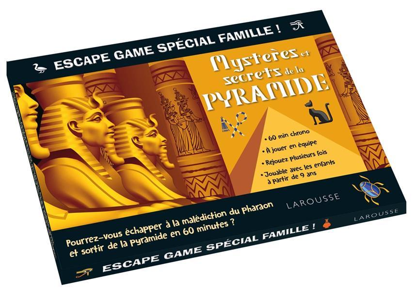 ESCAPE GAME SPECIAL FAMILLE - LES MYSTERES DE LA PYRAMIDE  LAROUSSE