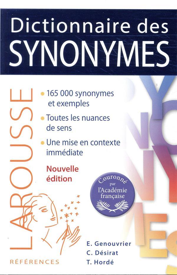 DICTIONNAIRE DES SYNONYMES DESIRAT CLAUDE LAROUSSE
